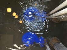 Stormwater pumps installed and being tested for shopping centre pumping station  » Click to zoom ->