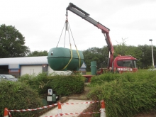 Installation of above ground sewage treatment plant  » Click to zoom ->