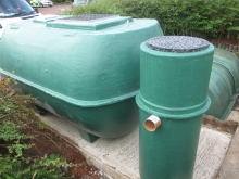 Installation of above ground sewage treatment plant including UV sample chamber  » Click to zoom ->
